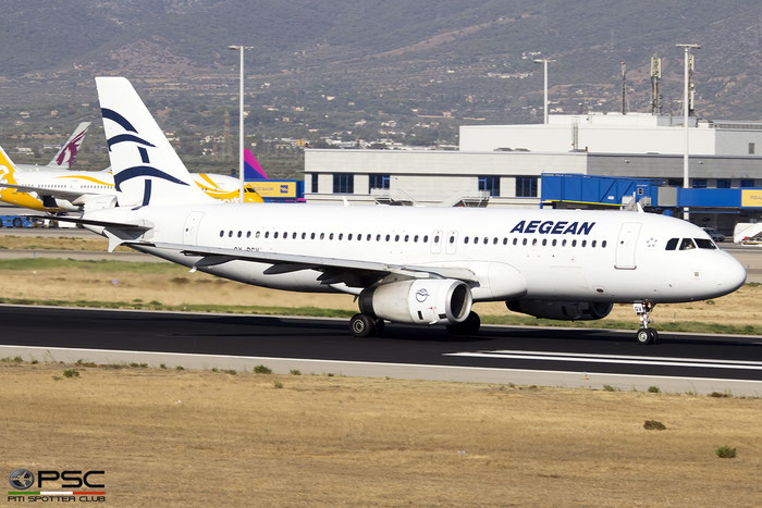 SX-DGV  A320-232  1856  Aegean Airlines  @ Athens 2019 © Piti Spotter Club Verona