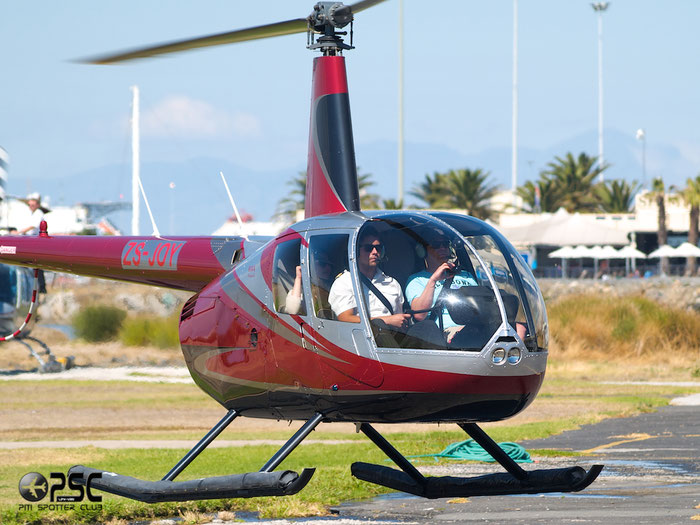ZS-JOY Robinson R-44 Raven II @ Cape Town downtown Heliport Airport 19.03.2014 © Piti Spotter Club Verona