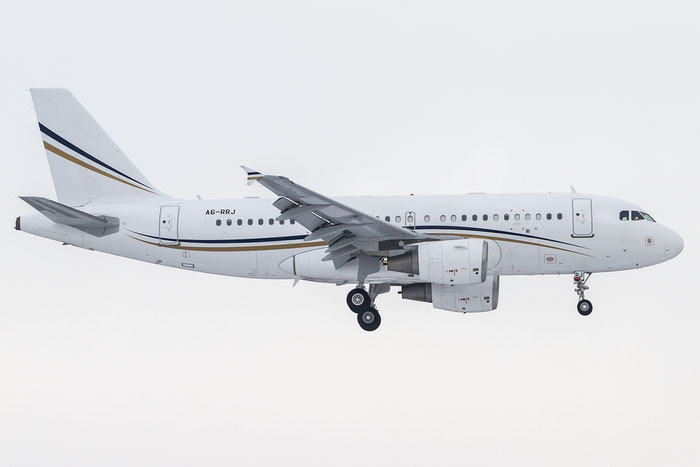 A6-RRJ A319-115 (ACJ) 5277 Rotana Jet Aviation @ Zurich Airport 20.01.2016 © Piti Spotter Club Verona