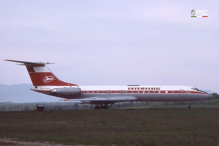 DDR-SDC 35180 Tu-134AK DDR-SDC Interflug © 2018 courtesy of Marco Ceschi - Piti Spotter Club Verona
