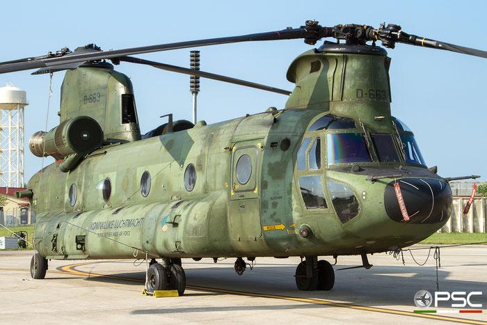D-663   CH-47D  M3663/NL003  Gilze-Rijen © Piti Spotter Club Verona