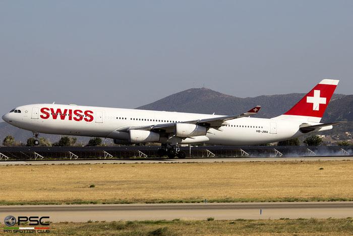 HB-JMA  A340-313X  538  Swiss @ Athens 2015 © Piti Spotter Club Verona