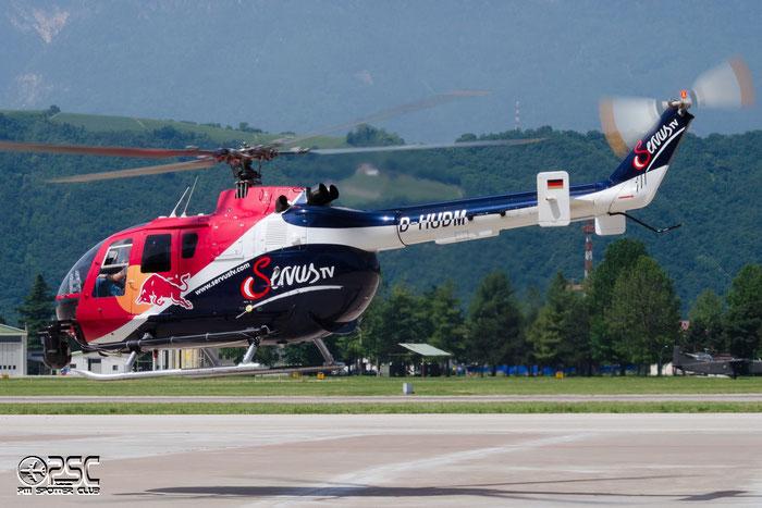 D-HUDM - MBB Bo105CBS-5 - The Flying Bulls @ Aeroporto di Bolzano © Piti Spotter Club Verona