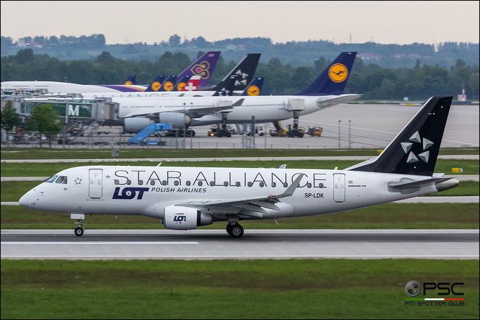 SP-LDK ERJ170LR 17000074 LOT Polish Airlines - Polskie Linie Lotnicze @ Munchen Airport 2016 © Piti Spotter Club Verona