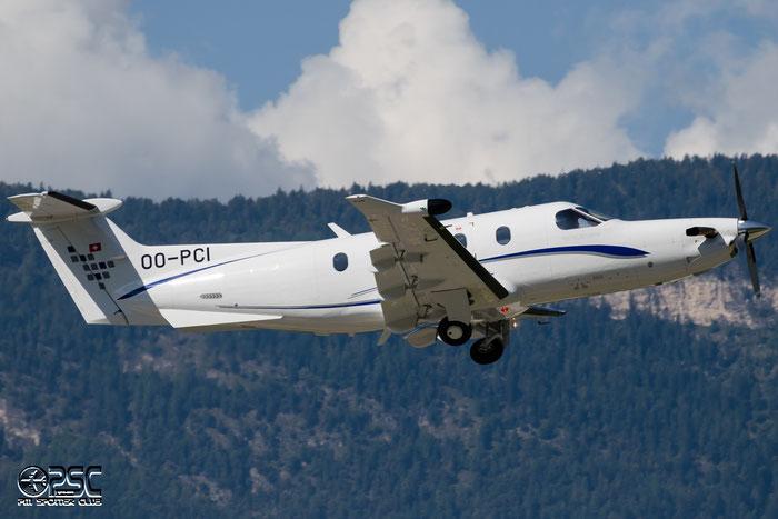OO-PCI Pilatus PC-12/47E PC12 1380 European Aircraft Private Club @ Aeroporto di Bolzano © Piti Spotter Club Verona