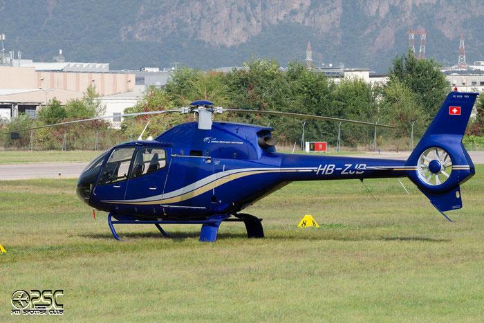 HB-ZJB Private Eurocopter EC120B Colibri @ Aeroporto di Bolzano © Piti Spotter Club Verona