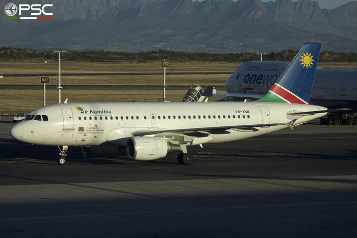 V5-ANN A319-112 5400 Air Namibia @ Cape Town International Airport 24.11.2017 © Piti Spotter Club Verona