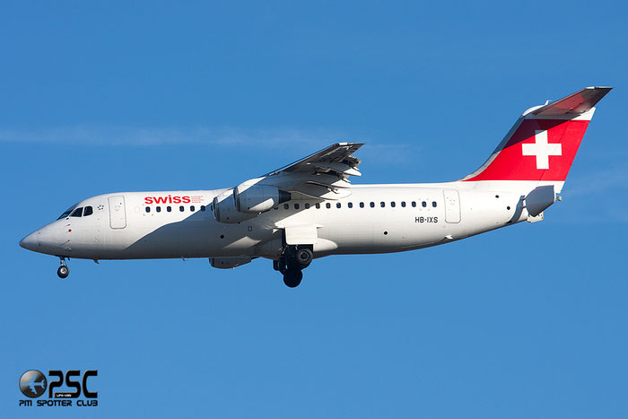 HB-IXS BAe146-RJ100 E3280 Swiss European Air Lines @ Milano Malpensa Airport 27.12.2013 © Piti Spotter Club Verona