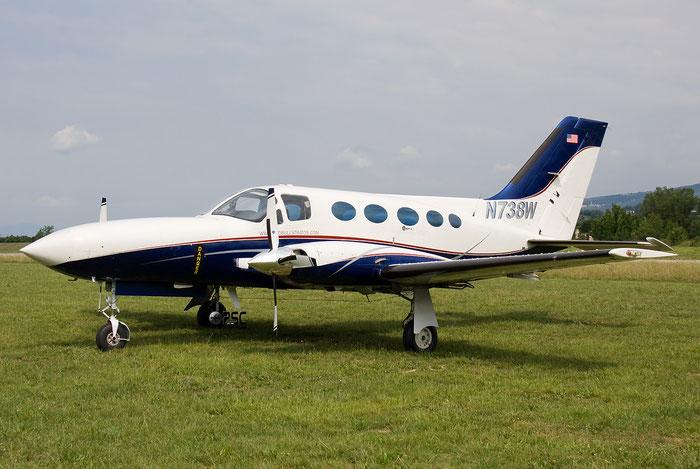 N738W Cessna 414A Chancellor C414 414A0027 @ Aeroporto Verona Boscomantico © Piti Spotter Club Verona