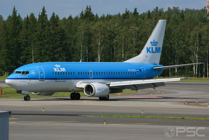 PH-BTE B737-306 27421/2438 KLM Royal Dutch Airlines @ Helsinki Airport 07.2008  © Piti Spotter Club Verona
