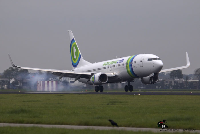 PH-HSE B737-8K2 39259/3635 Transavia Airlines @ Amsterdam Airport 24.10.2015  © Piti Spotter Club Verona