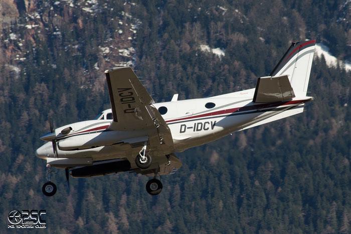 D-IDCV Raytheon Aircraft Co C90A King Air BE9L DIX - Dix Aviation @ Aeroporto di Bolzano © Piti Spotter Club Verona