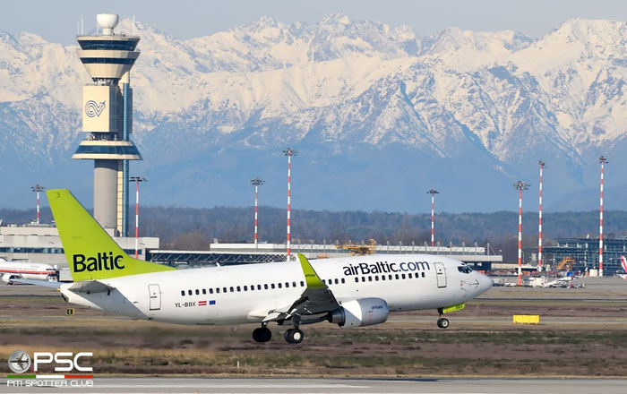 YL-BBX B737-36Q 30334/3120 airBaltic @ Milano Malpensa Airport 20.02.2016 © Piti Spotter Club Verona