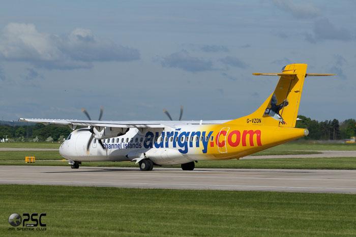 G-VZON ATR72-212A 853 Aurigny Air Services @ Manchester Airport 13.05.2013 © Piti Spotter Club Verona
