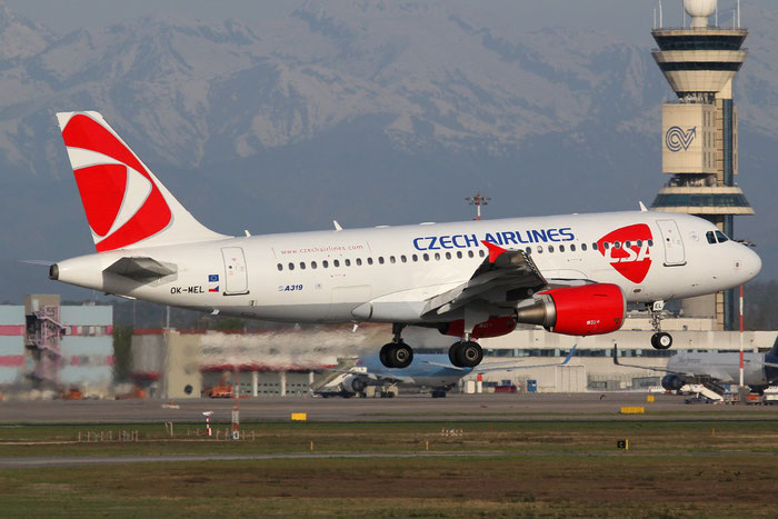 OK-MEL A319-112 3094 CSA Czech Airlines @ Milano Malpensa Airport 14.04.2015 © Piti Spotter Club Verona