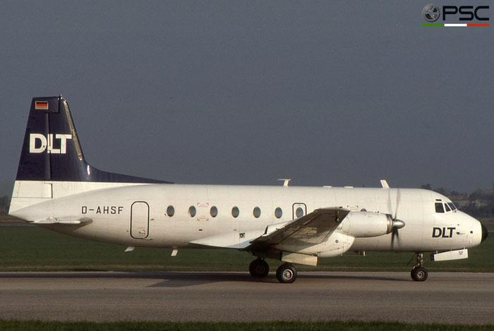 D-AHSF DLT - Deutsche Luftverkehrsgesellchaft Hawker Siddeley HS 748 © 2018 courtesy of Marco Ceschi - Piti Spotter Club Verona