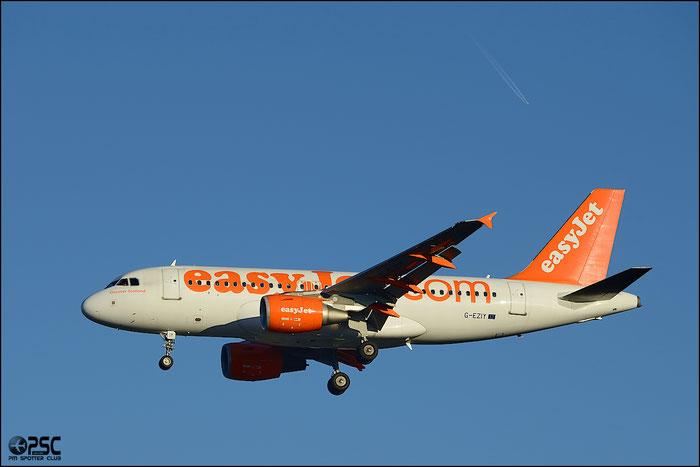 G-EZIY A319-111 2636 EasyJet Airline @ Milano Malpensa Airport 25.01.2014  © Piti Spotter Club Verona