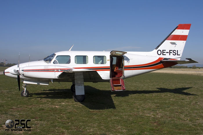 OE-FSL Piper PA-31-325 PA31 31-7912058 @ Aeroporto Verona Boscomantico © Piti Spotter Club Verona