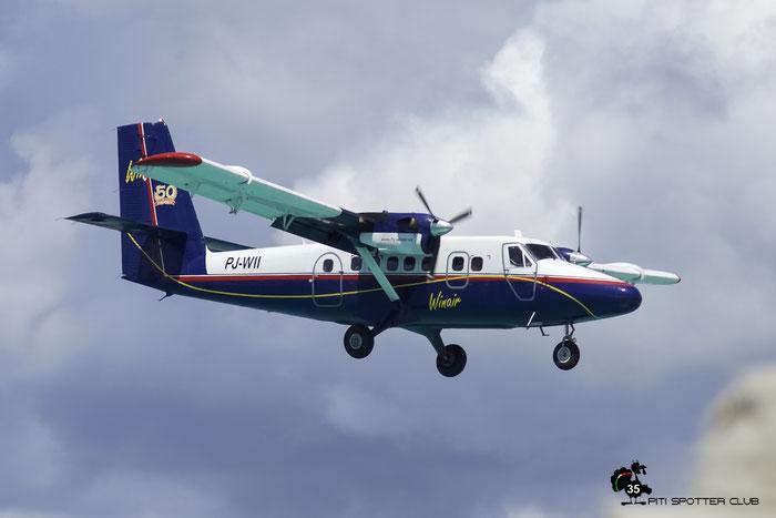 PJ-WII DHC-6-300 682 Winair - Windward Islands Airways @ Sint Maarten Airport 05.03.2016 © Piti Spotter Club Verona