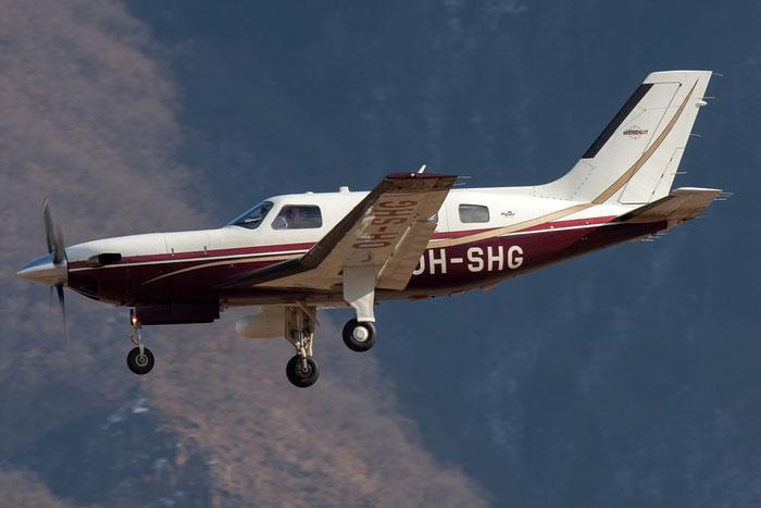 OH-SHG Piper PA-46-500TP Malibu Meridian P46T 4697138 Vertic Zinc Wire Oy @ Aeroporto di Bolzano © Piti Spotter Club Verona
