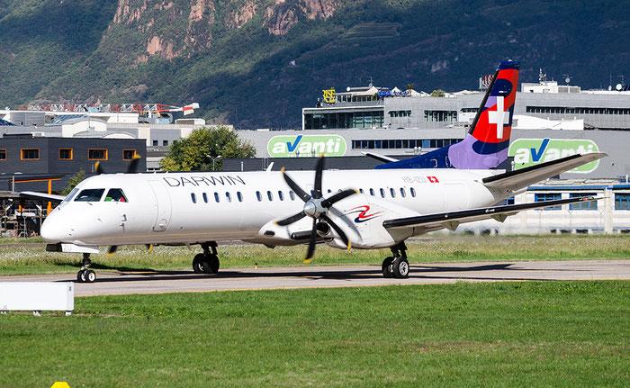 HB-IZU Saab 2000 2000-037 Darwin Airline @ Aeroporto di Bolzano © Piti Spotter Club Verona
