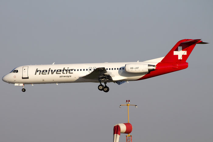 HB-JVF Fokker 100 11466 Helvetic Airways @ Venezia Airport 22.08.2015 © Piti Spotter Club Verona