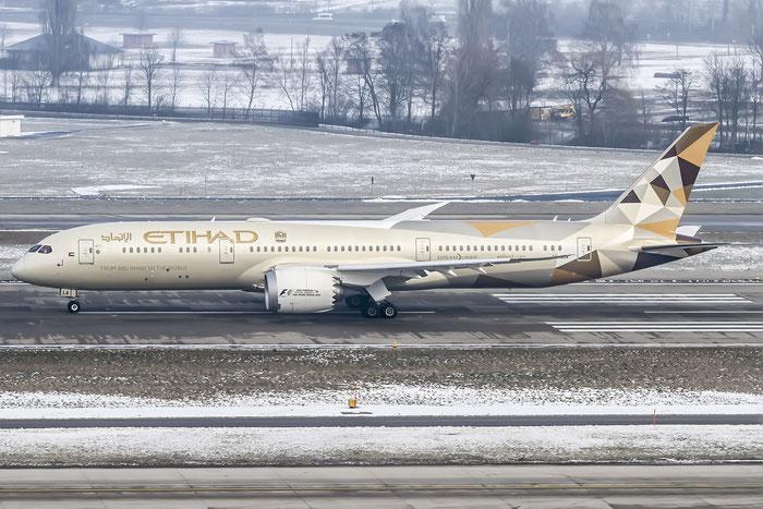 A6-BLA B787-9 39646/229 Etihad Airways @ Zurich Airport 21.01.2016 © Piti Spotter Club Verona