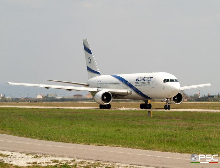 4X-EAB B767-258 22973/68 El Al Israel Airlines @ Aeroporto di Verona 05.04.2008  © Piti Spotter Club Verona