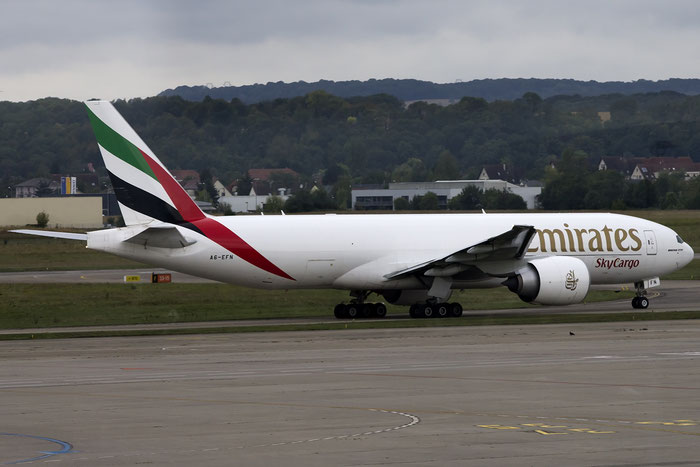 A6-EFN B777-F1H 42232/1212 Emirates @ Basel Airport 09.2015 © Piti Spotter Club Verona