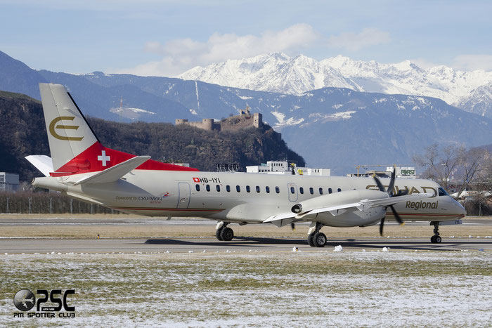 HB-IYI Saab 2000 2000-016 Darwin Airline @ Aeroporto di Bolzano © Piti Spotter Club Verona