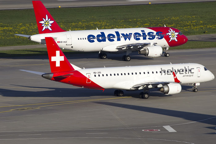 HB-JVO ERJ190LR 19000294 Helvetic Airways @ Zurich Airport 05.2016 © Piti Spotter Club Verona