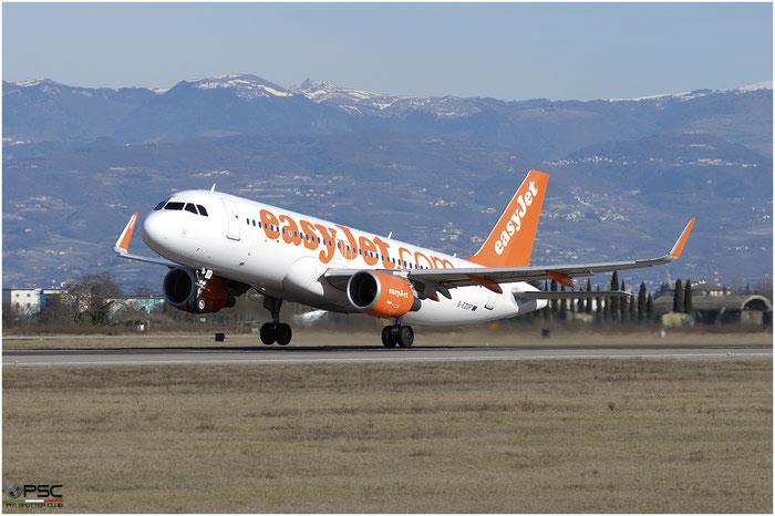 G-EZOF A320-214 6525 EasyJet Airline @ Aeroporto di Verona 25.02.2017  © Piti Spotter Club Verona