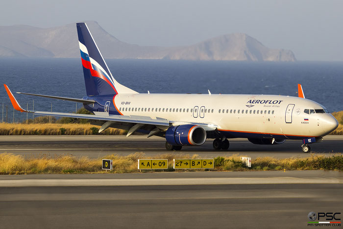 VQ-BHV  B737-800  41237/7277  Aeroflot @ Heraklion 2019 © Piti Spotter Club Verona