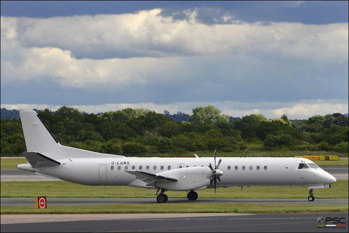 G-LGNS Saab 2000 2000-041 Loganair @ Manchester Airport 21.06.2015  © Piti Spotter Club Verona