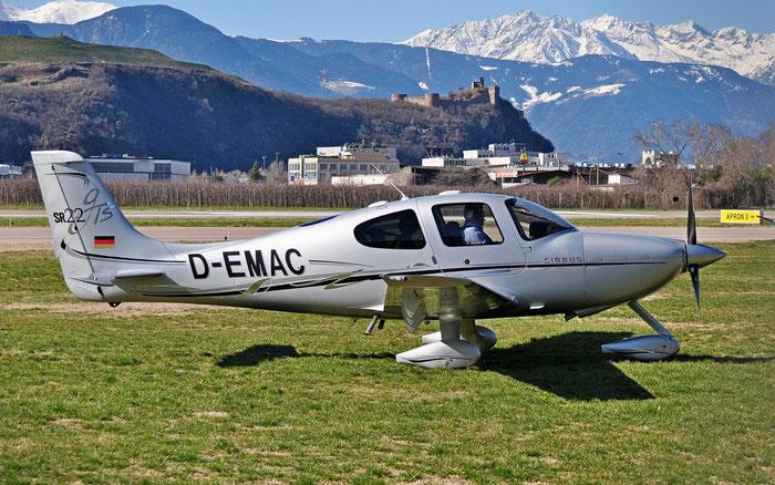 D-EMAC Cirrus Design Corp SR-22 SR22 2383 @ Aeroporto di Bolzano © Piti Spotter Club Verona