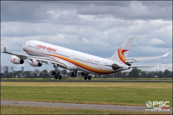 PZ-TCR  A340-313X  242  Surinam Airways @ Amsterdam 2019 © Piti Spotter Club Verona