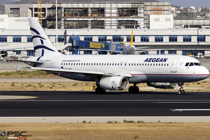 SX-DVK  A320-232  3392  Aegean Airlines @ Athens 2019 © Piti Spotter Club Verona