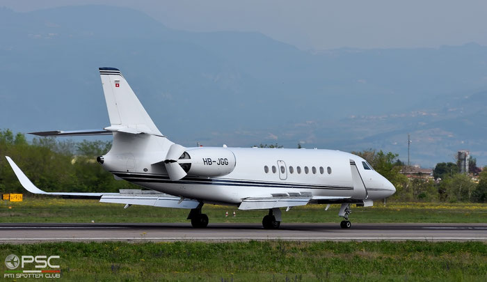 HB-JGG Falcon 2000LX 188 MSC Aviation SA @ Aeroporto di Verona 12.04.2017  © Piti Spotter Club Verona