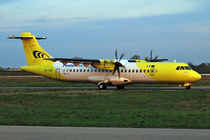 OY-YAE ATR72-212A 705 Mistral Air @ Aeroporto di Verona 02.04.2017  © Piti Spotter Club Verona