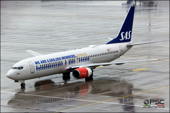 LN-RCY B737-883 28324/767 SAS Scandinavian Airlines - Scandinavian Airlines System @ Munich Airport 2016 © Piti Spotter Club Verona