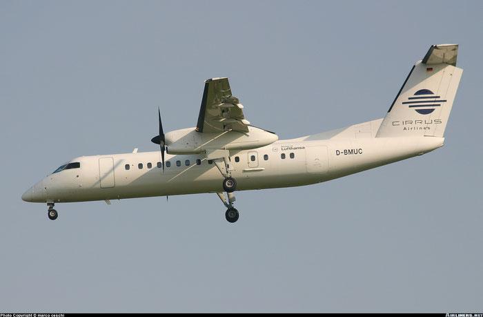 D-BMUC DHC-8-314 350 Cirrus Airlines @ Aeroporto di Verona © Piti Spotter Club Verona