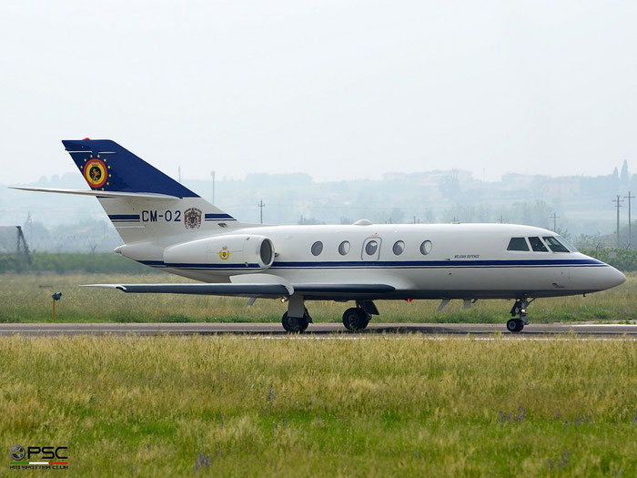 CM02   Falcon 20E-5  278  Oostende © Piti Spotter Club Verona