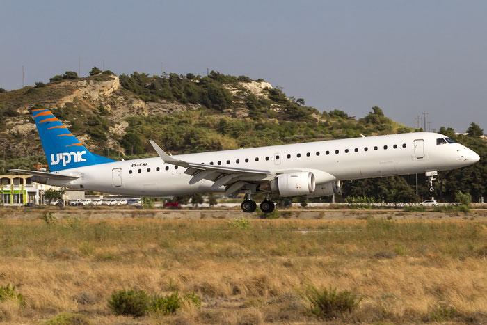 4X-EMA ERJ195LR 19000172 Arkia Israeli Airlines @ Rhodes Airport 06.07.2015 © Piti Spotter Club Verona