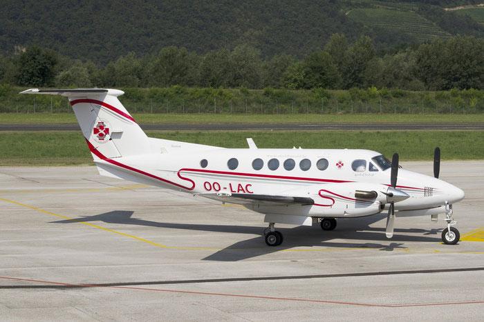 OO-LAC Beech B200C Super King Air BE20 BL-16 SKS [S3] Sky Service @ Aeroporto di Trento © Piti Spotter Club Verona