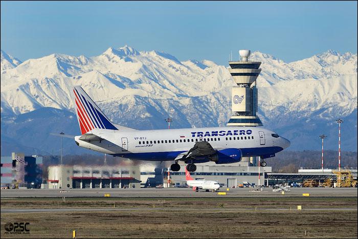 VP-BYJ B737-524 28923/3060 Transaero Airlines @ Milano Malpensa Airport 25.01.2014 © Piti Spotter Club Verona