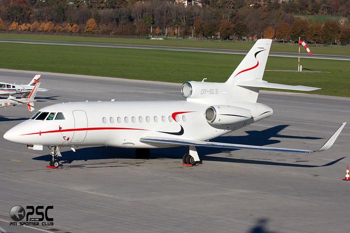 OY-SLS Falcon 900LX 264 Air Alsie @ Innsbruck Airport 26.10.2013 © Piti Spotter Club Verona