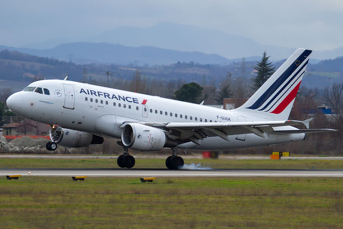 F-GUGK A318-111 2601 Air France @ Bologna Airport 12.02.2016 © Piti Spotter Club Verona