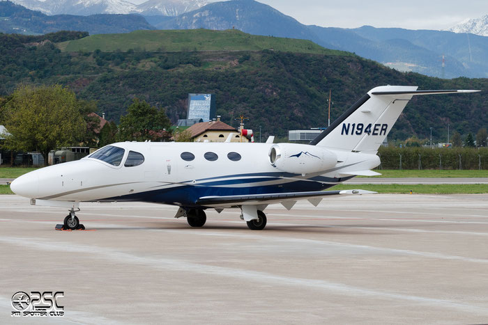 N194ER Ce510 510-0432 Blue Sky Aviation @ Aeroporto di Bolzano © Piti Spotter Club Verona