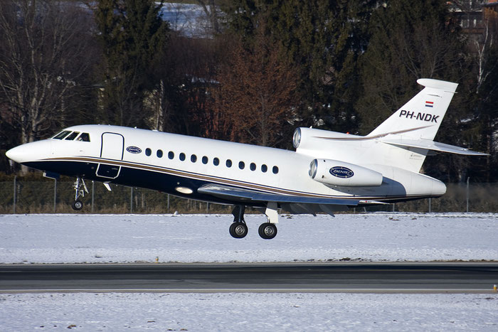 PH-NDK Falcon 900B 175 ASL - Air Service Liège @ Innsbruck Airport 26.01.2013 © Piti Spotter Club Verona
