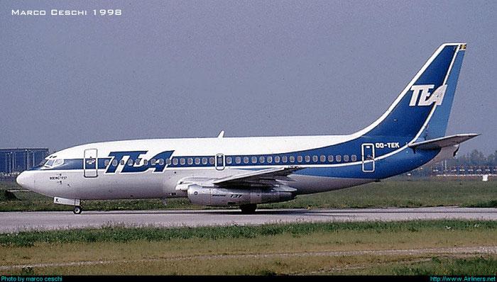 OO-TEK  B737-2Q9  21719/551  TEA - Trans European Airways  @ Aeroporto di Verona © Piti Spotter Club Verona